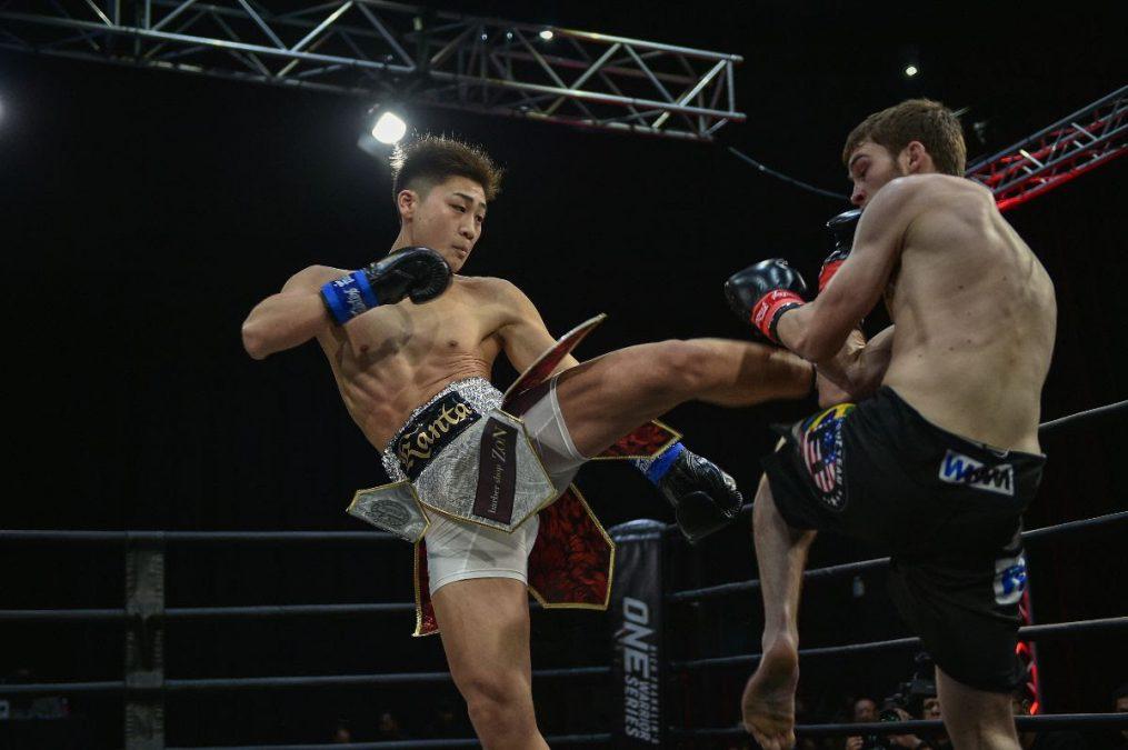 Kanta Motoyama kicks Michael Walker